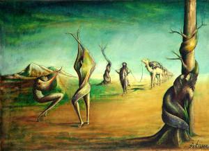 Çölde Dans, 50×40 cm