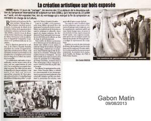 Gabon Matin 2, 2013