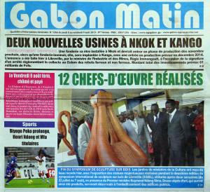 Gabon Matin, 2013